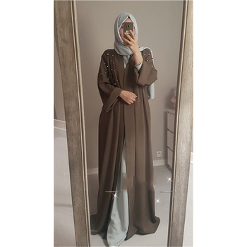 Turkish Islamic Clothing Wholesale Muslim Abaya Dress Pearl Robes Macys Dresses Modest Women Clothing DL2830