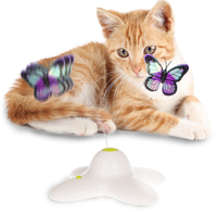 pet product new electric interactive bird butterfly cat toy