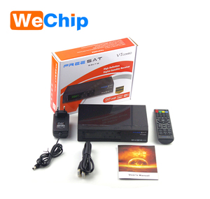 Joinwe hot selling new model freesat amiko support S2+T2 free to air  freesat V7 combo