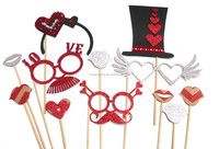 Photo Booth Props - Love Me Valentine Party Photo Booth Props x 12PC