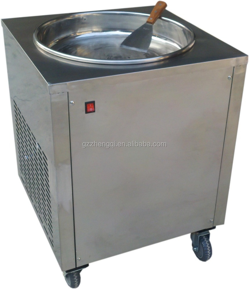 Material Steel single pan fried ice machine, yogurt, ice cream making machine