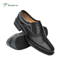 Made to order leather upper anti slip rubber sole officer men shoes