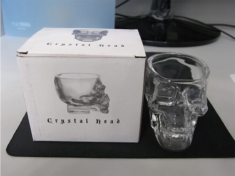 wholesale cranium wine glass creative  wine glass vodka spirit glass  cup water cup