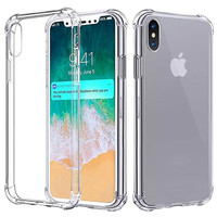 Wholesale Transparent Clear Soft TPU Shockproof Mobile Phone Cover For Iphone X Xs Max XR Case