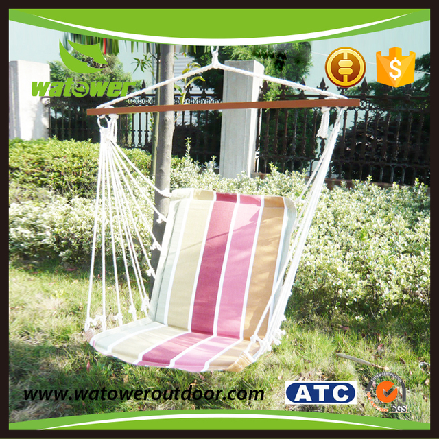 NBWT Outdoor Folding Cotton Canvas Rope Hanging Hammock Chair