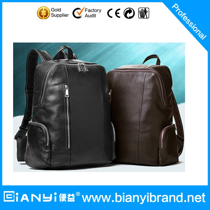 Custom fashion mens travelling leather s laptop backpack bag