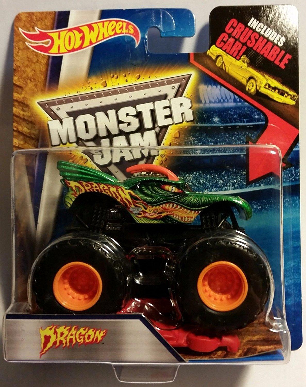 Qiyun 2016 Hot Wheels Monster Jam Dragon w Crushable CAR4 1 64