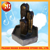 small stone garden water jumping jet fountain for decoration