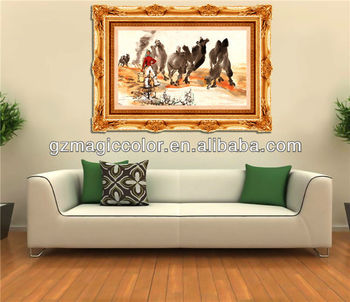 Beautiful Oil Painting With Frame Design Wallpaper For Living Room Wall  Decoration Part 63