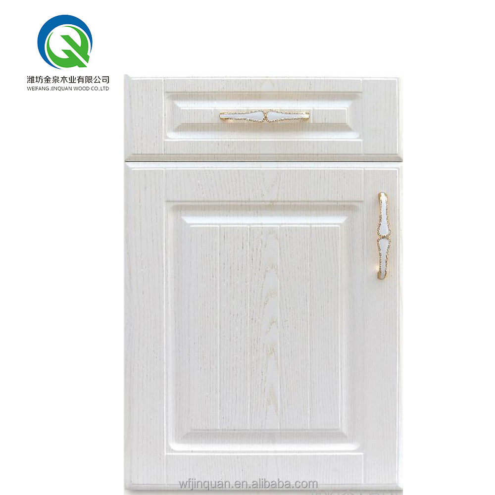 Plastic roller shutter for pvc moulded kitchen cabinet door in sub-glossy surface