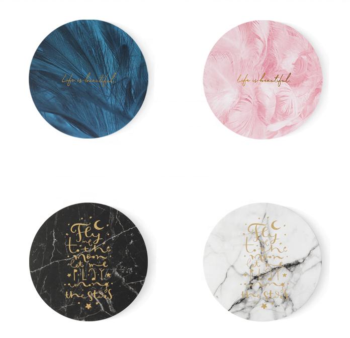 Cina fornitore Personalizzato feltro naturale stampa coaster produttore