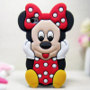 Cute Minnie Mouse Phone Case For iPhone 5 case 3D Silicone Phone case
