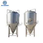Industrial 900l glass fermenter plant 30 gallon with dimple plate jacket