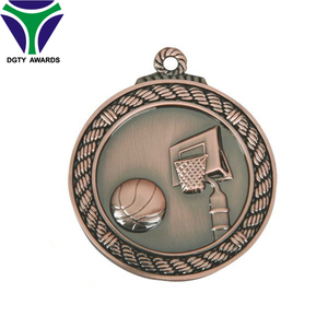 Funny design Metal Basketball magnetic souvenir die cast medal for sales