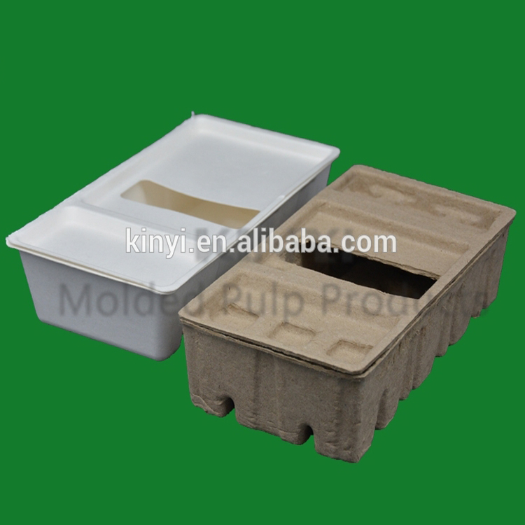 Biodegradable/ recyclable paper moulding packaging styrofoam protect package box