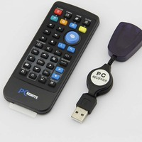 Wholesale Wireless Controller PC Computer Remote Controller Media Center fly Mouse & USB Receiver For Windows 7 XP VISTA