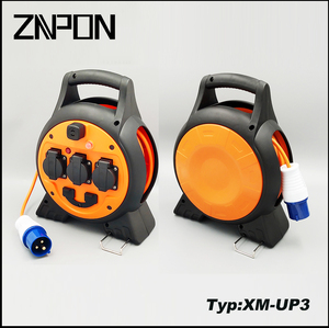 ZNPON 15M 3 way Schuko Extension Cable reel with USB