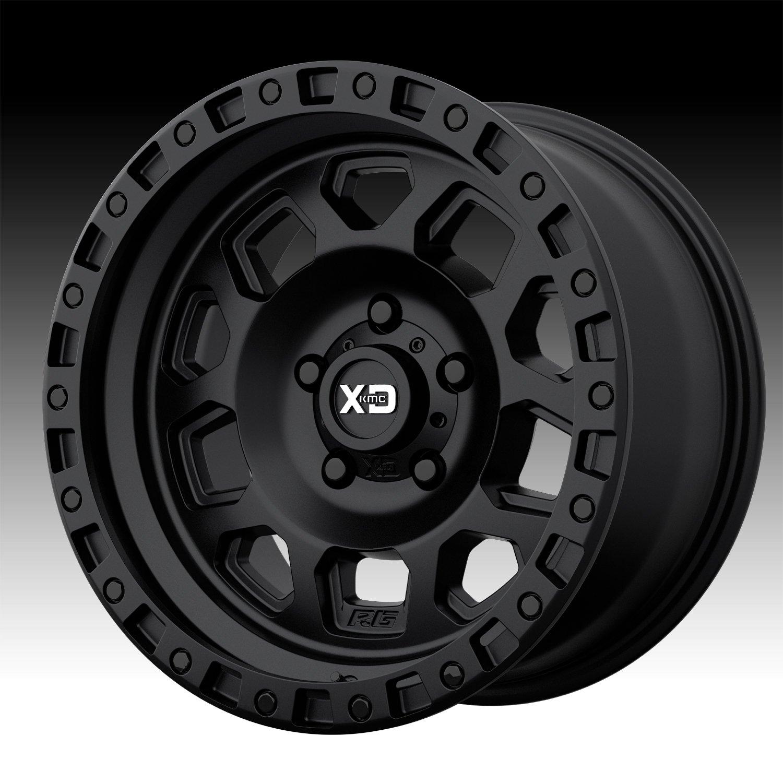 XD Series By KMC Wheels XD132 Satin Black - XD132 18X9 8X165.10 Black (0 Mm) - XD13289080700