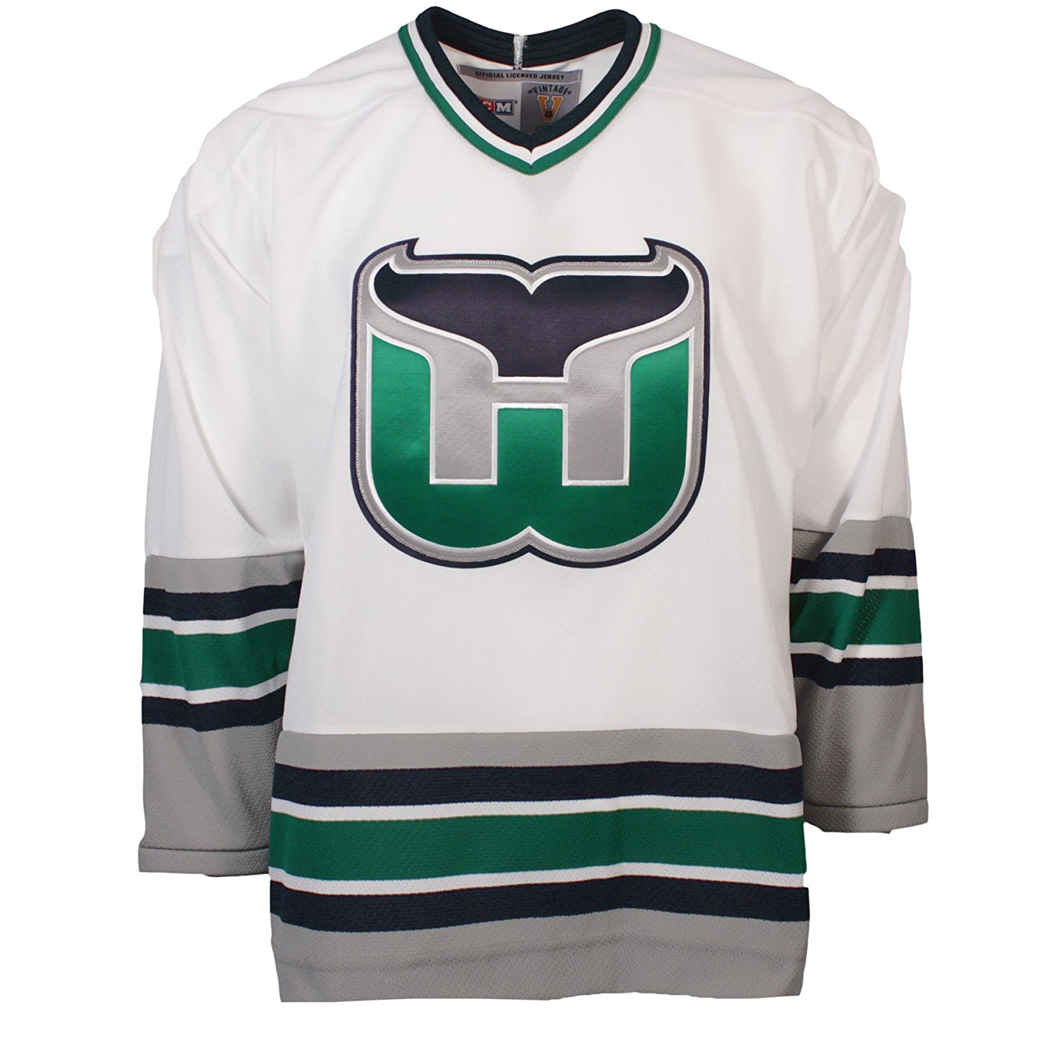 Get Quotations · Hartford Whalers Vintage Replica Jersey 1992 (Home) e33fbc193