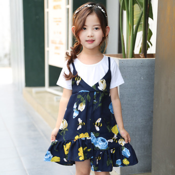 70898917e0f17 2017 Summer wholesale boutique infant girl dress with kids cotton frocks  design 3year baby party dress