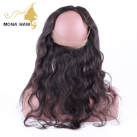 Hot selling 100% raw unprocessed Indian virgin hair wet and wavy 360 lace frontal