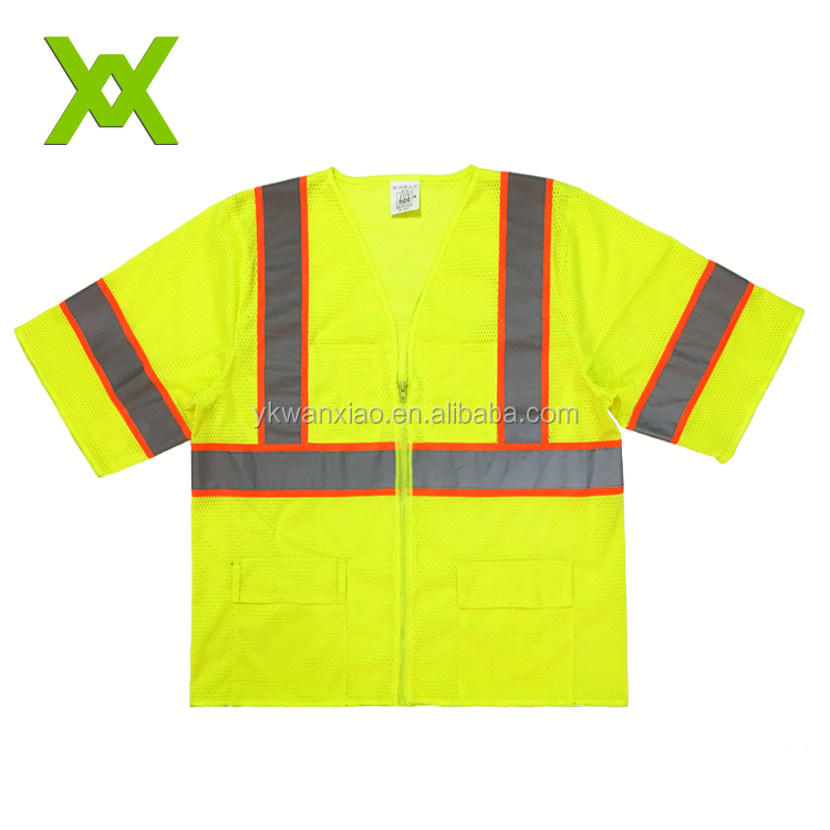 Latest Custom Hi Vis Confort Color T Shirts Safety Reflective Used Uniform Work Shirts