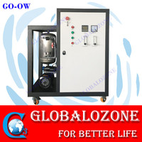 nano bubble generator assembled with oxygen/ozone generator for aquaculture ras
