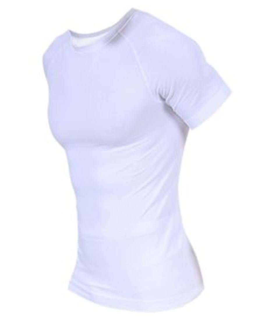 e9488473 Get Quotations · Color:White # Men Compression Body Shaper Nylon Tight  Sports Shirt Breathable Athletic Wear Short