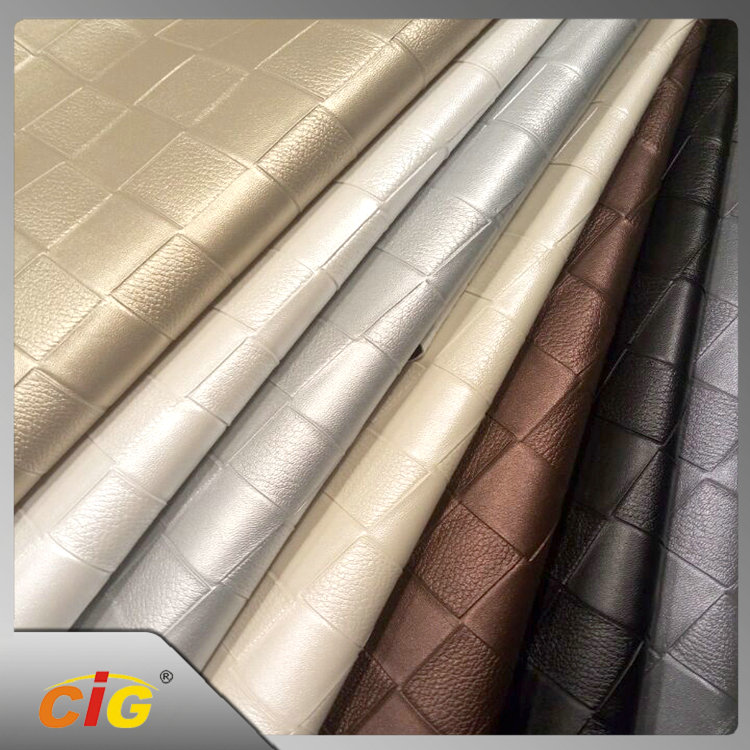 Embossed 100% PVC PU Synthetic Leather