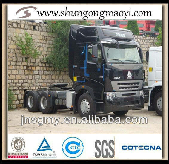 china heavy duty truck howo a7 tow tractor