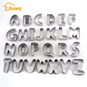 Popular cake tools alphabet letter stainless steel baking mould
