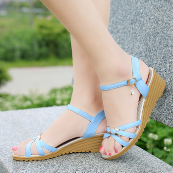 101c152e5b89ab DL20550B 2018 latest ladies sandals designs fashion women wedge shoes