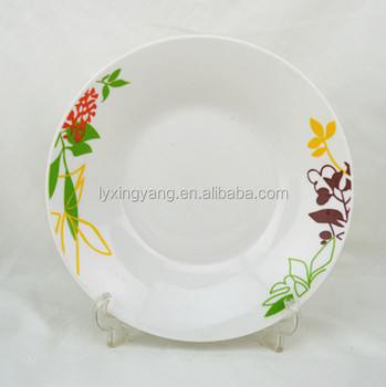 high quality and blank Round melamine plate white dinner plate flat plate for hotel & High Quality And Blank Round Melamine Plate White Dinner Plate Flat ...