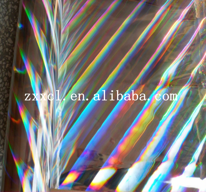 15 micron Seamless rainbow PET holographic lamination film for wet lamination process