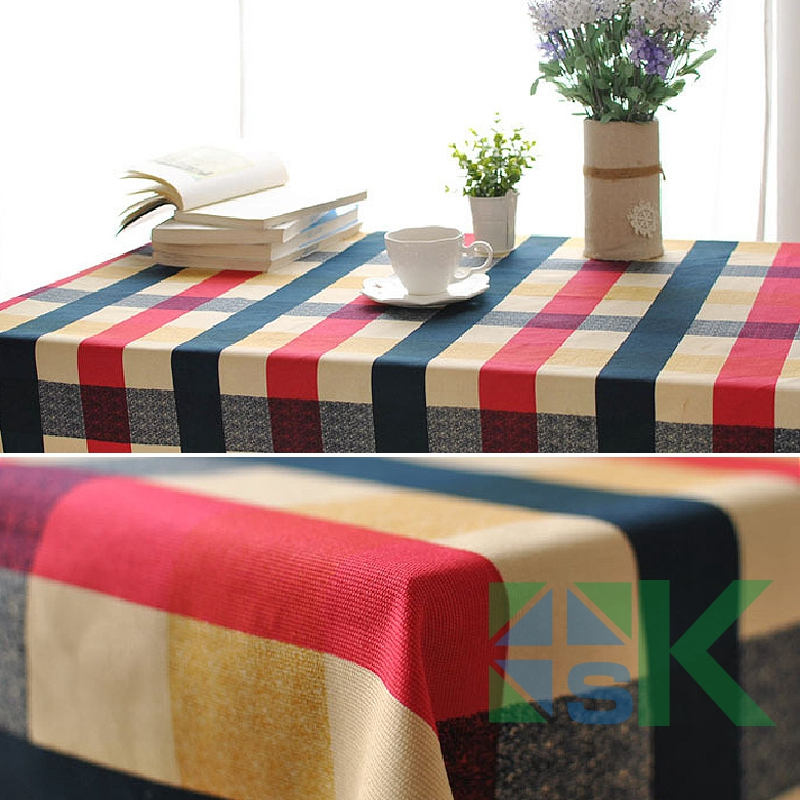 2016 Summer new <font><b>Italian</b></font> style Scottish Edinburgh Plaid Pattern Table Cloth Rectangular Table Cover dustproof for Banquet <font><b>Decor</b></font>