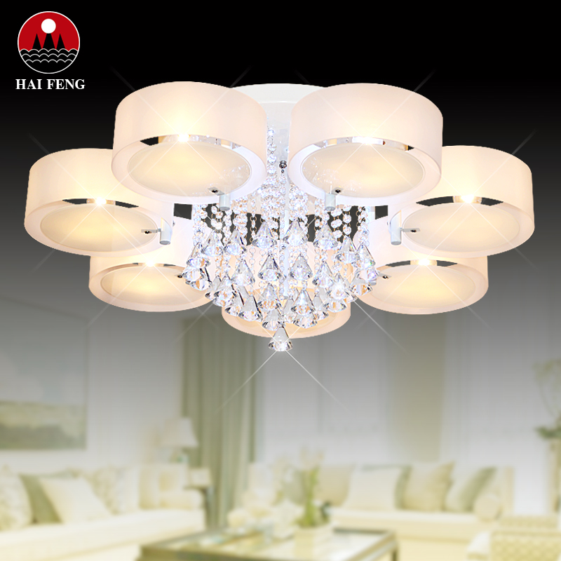 Wholesale Silver Crystal Ring LED Chandelier Crystal Lamp / Light ...