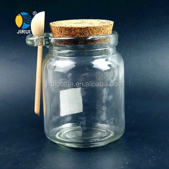 Decorative Spice Jars Inspiration Wholesale Round Glass Spice Jar With Wooden Lid And Spoon  Buy Design Inspiration