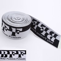 2 inch width elastic band woven logo nylon soft material