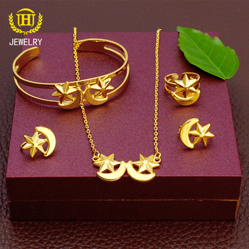 Star Moon combination 18k italian gold jewelry sets jewelry gold