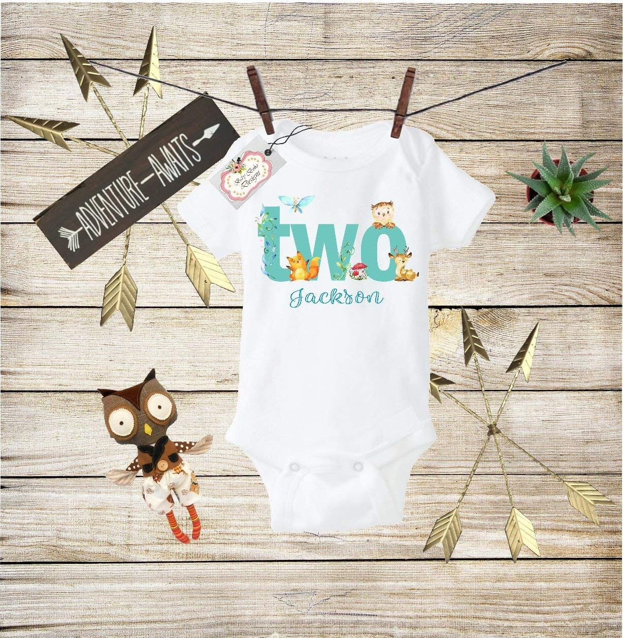 bdeb73cff Get Quotations · Boho Baby Clothes Second Birthday Bodysuit Personalized  Baby Boho Outfit Boho Baby Outfit Second Birthday Gift