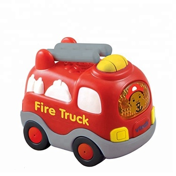 Most Popular Kids Educational Plastic Cartoon Car Fire Truck Toy