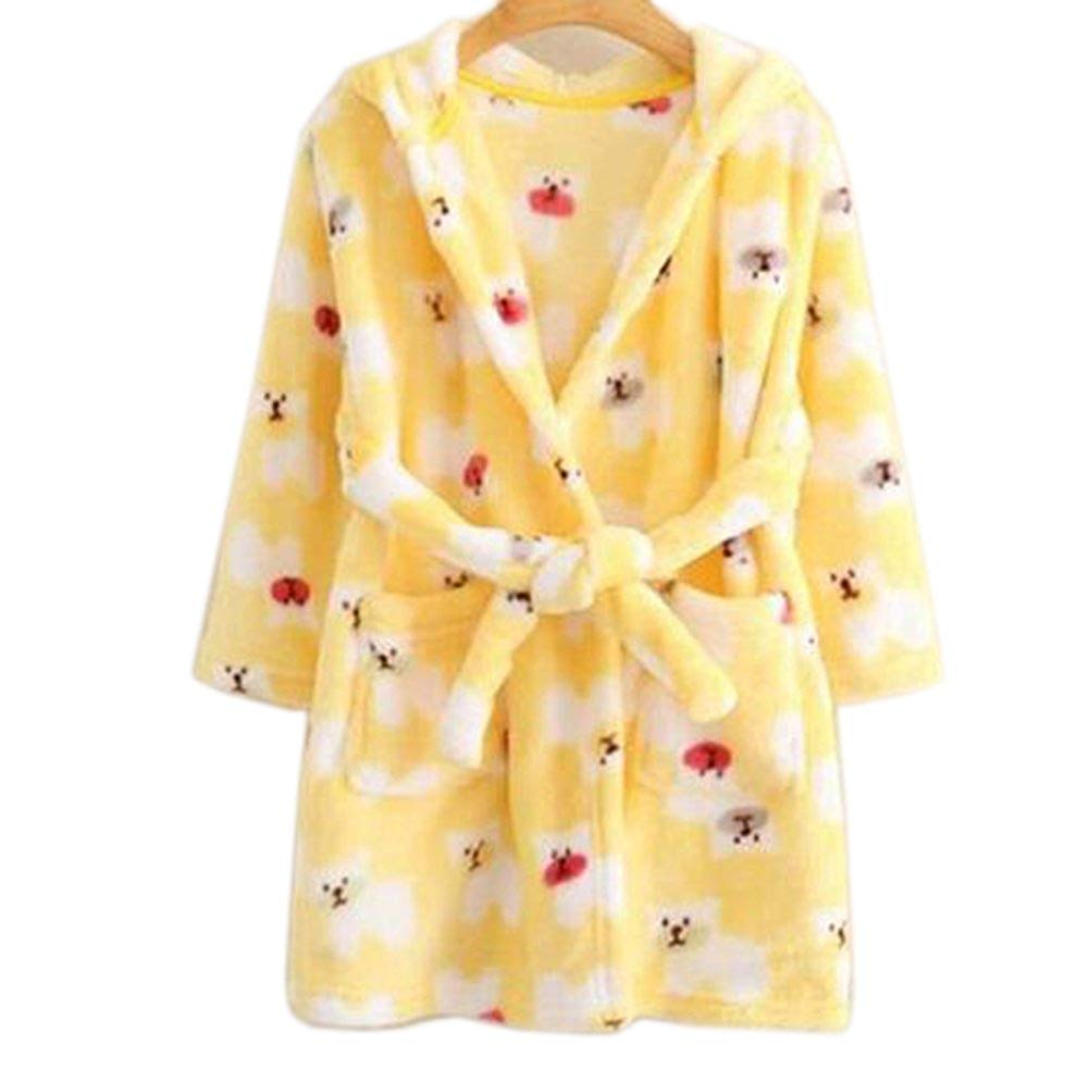 Get Quotations · JIANLANPTT Cute Cartoon Boys Girls Hood Bathrobes Kids  Flannel Sleepwear Robes e763b8556