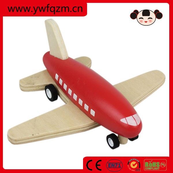 2015 Hot sell new design wooden kids flying toy plane