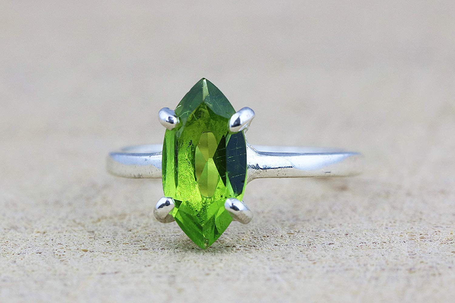 ba1066477 Get Quotations · Peridot ring,August birthstone ring,silver rings,stack  rings,prong rings,