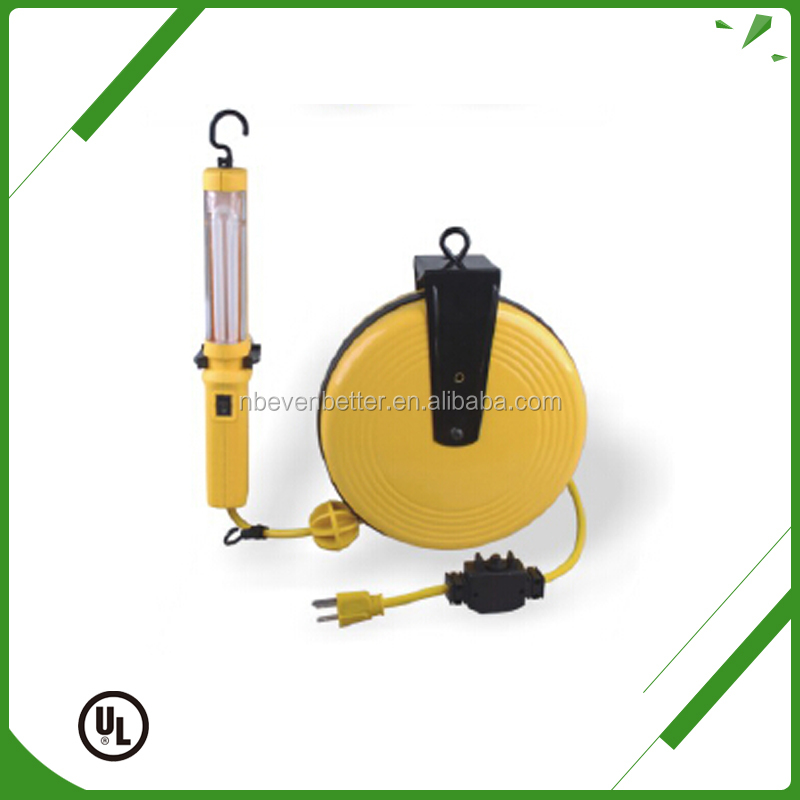 Industrial low cost retractable extension cord reel