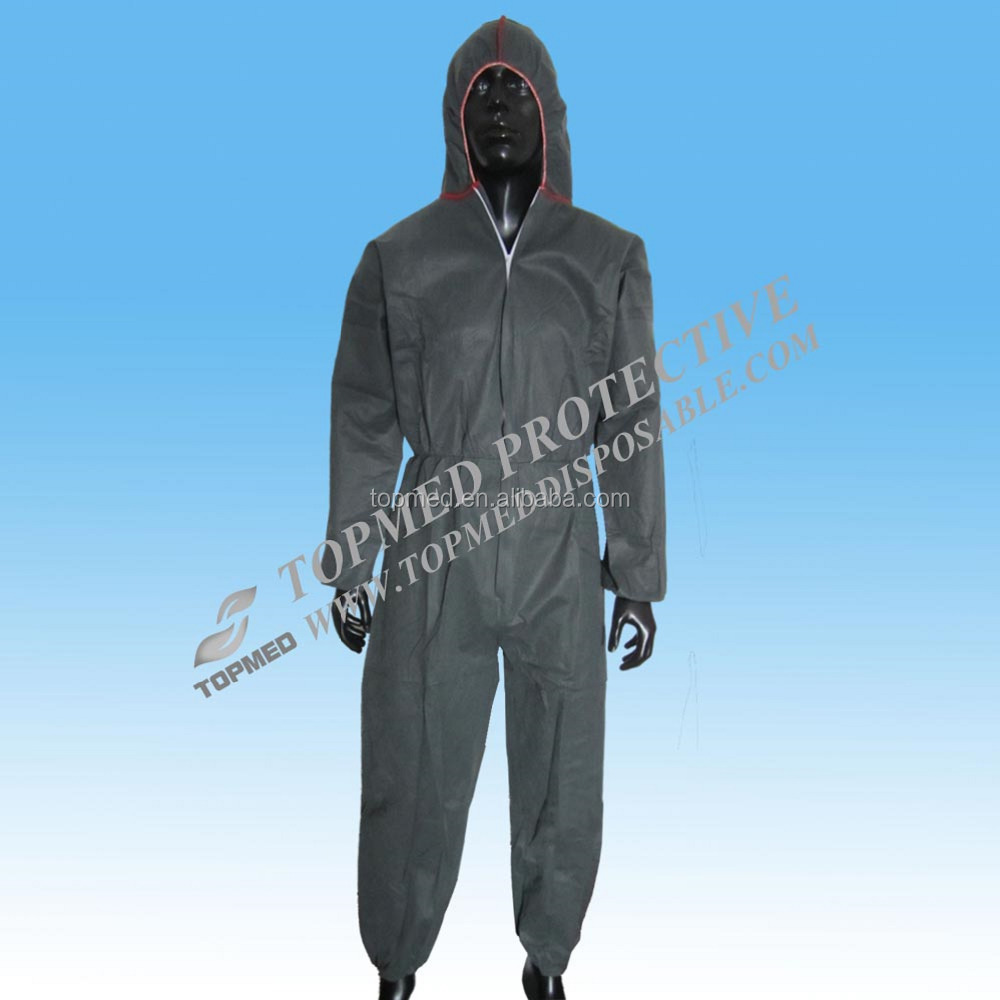 Korea grey PP/SMS coverall/colorful painter coveralls disposable