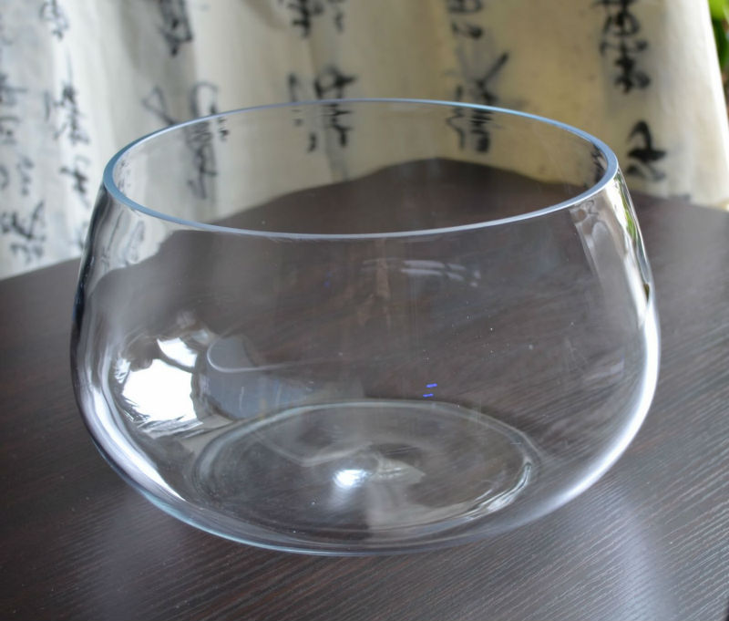 wholesale hand blown clear round glass fish bowl