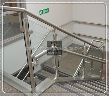 Rumah Modern Pagar Stainless Steel Desain Kaca Railing Untuk