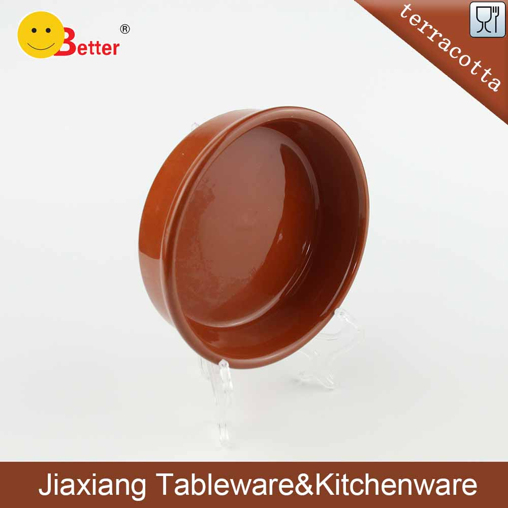 Glazed Terracotta Tapas olive serving dishes for tableware