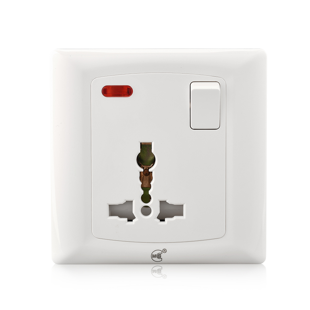 Electric 220V 13A 1 gang 3 pin wall light switch socket
